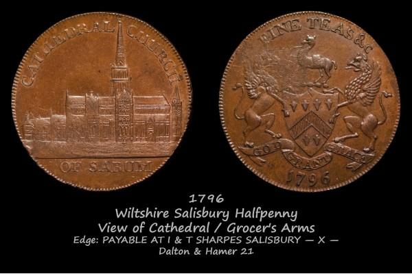Wiltshire Salisbury Halfpenny D&H21