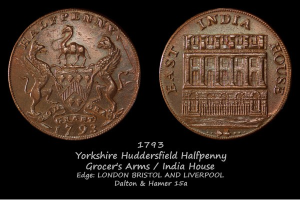 Yorkshire Huddersfield Halfpenny D&H15a