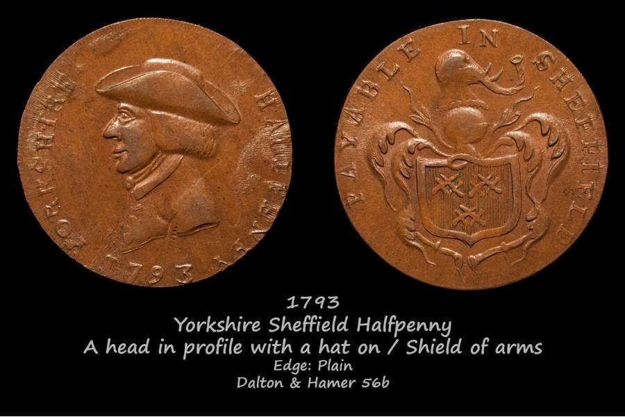 Yorkshire Sheffield Halfpenny D&H56b