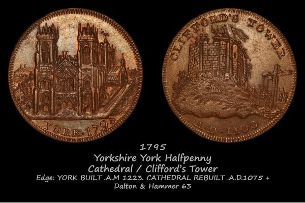 Yorkshire York Halfpenny D&H 63