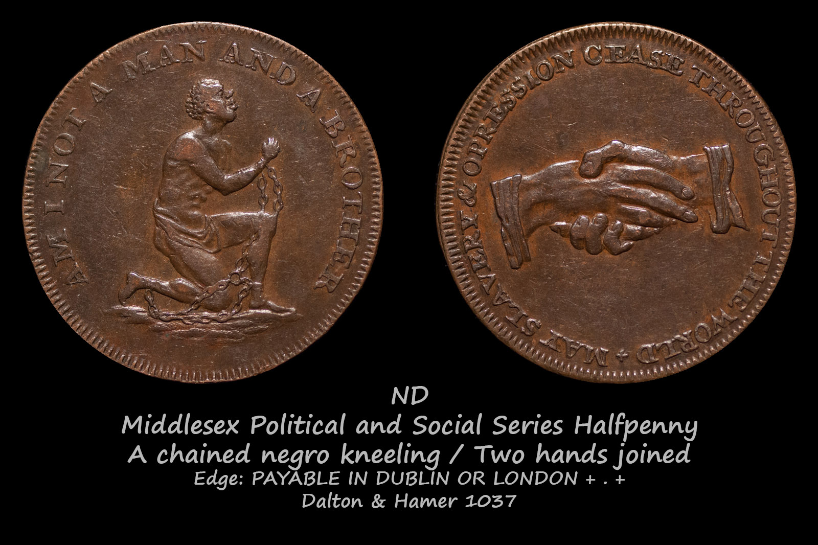 Middlesex Political and Social Series Halfpenny D&H1037