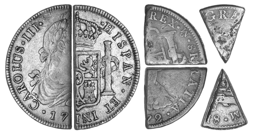 8 reales or spanish-american dollar cuts