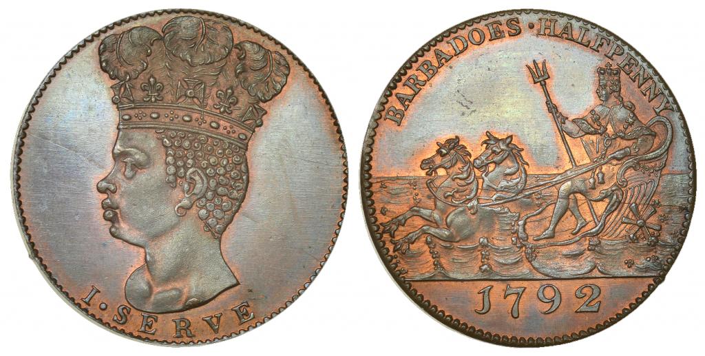 Barbados halfpenny 1792