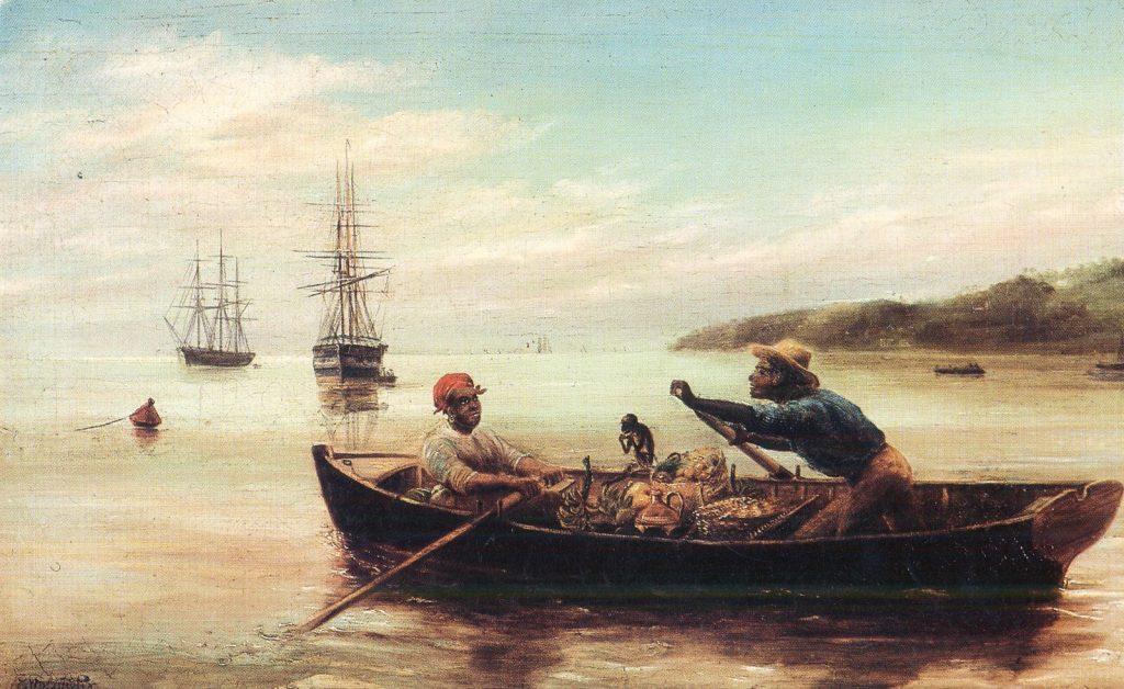 Bum Boat in Carlisle Bay, Edwin Roper Loftus Stocqueler