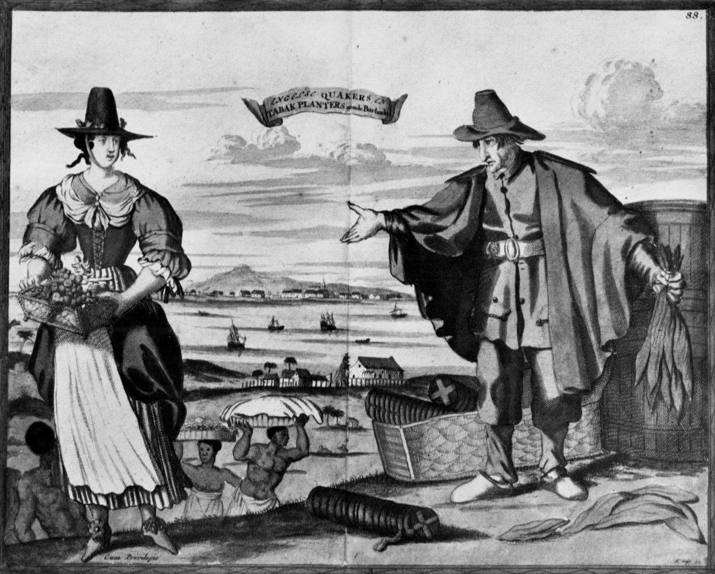 Engelse Quakers en Tabak Planters aende Barbados