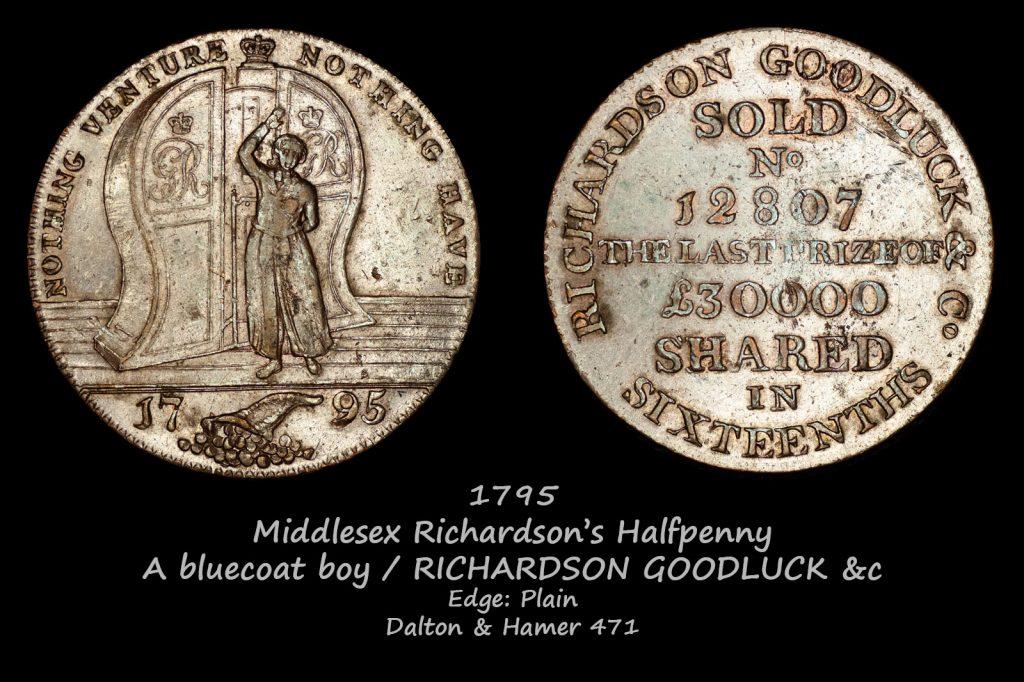 Middlesex Richardson's Halfpenny D&H471