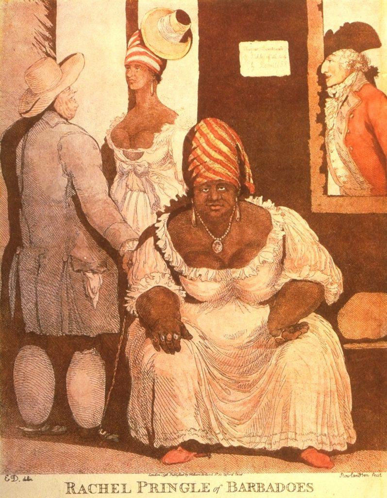 Rachel Pringle, Barbados, 1796, Thomas Rowlandson, published separately by William Holland (London, 1796)