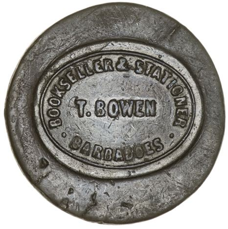 T. BOWEN BOOKSELLER & STATIONER BARBADOES