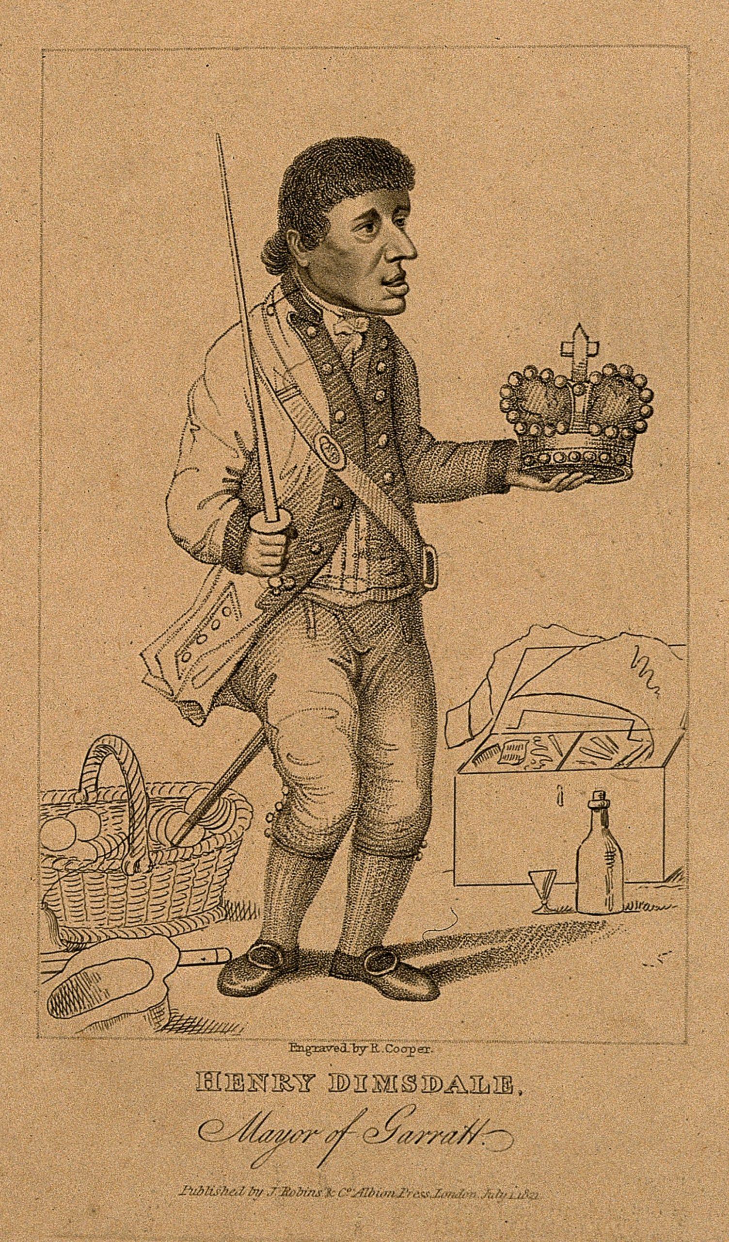 Henry Dimsdale. Mayor of Garratt. engraved by R. Cooper