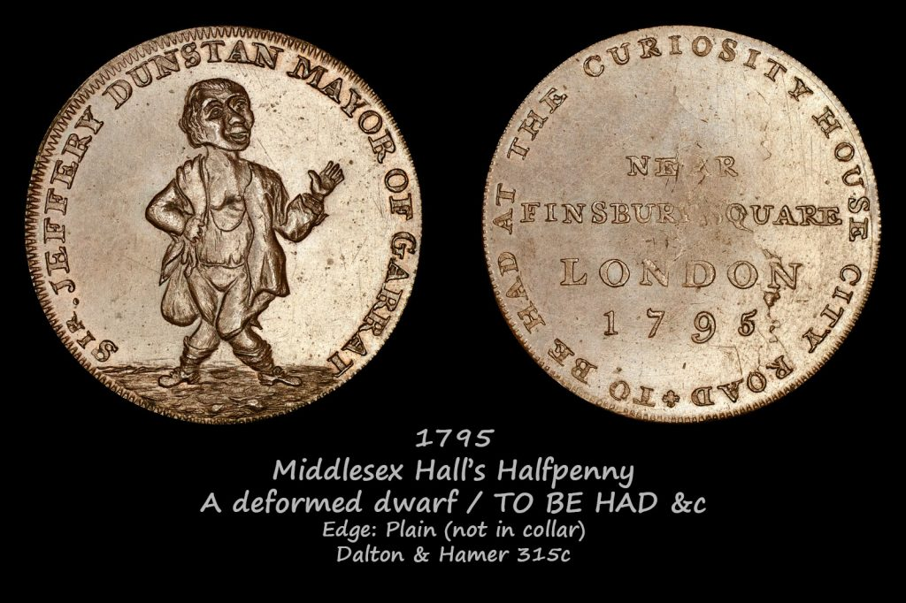 Middlesex Hall's Halfpeny DH315c