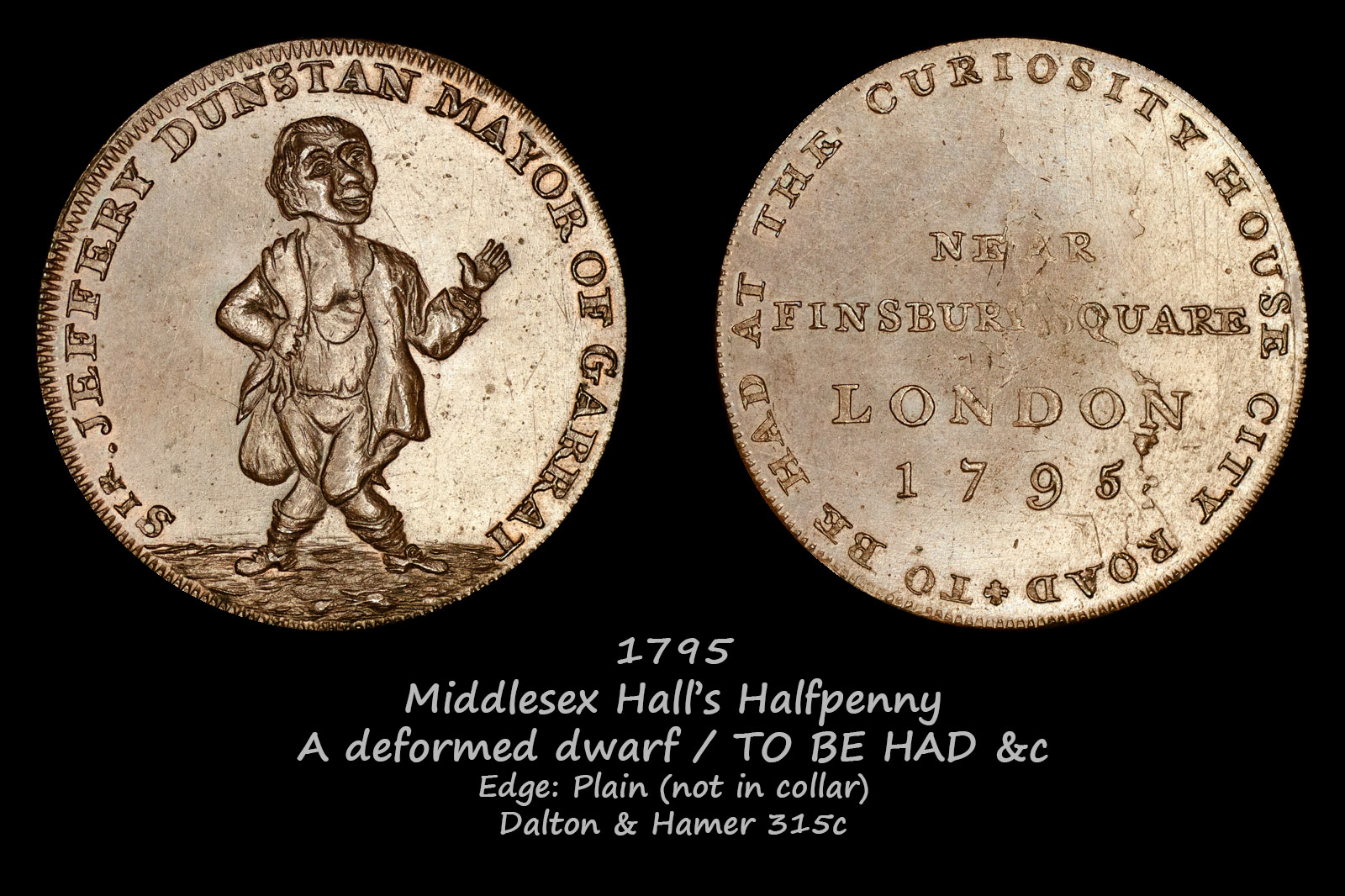 Middlesex Hall's Halfpenny D&H315c